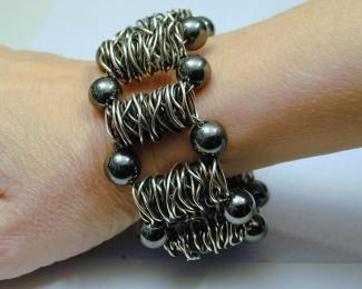 wire bead cuff bracelet