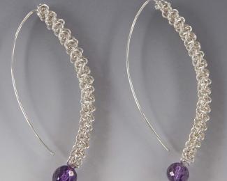 Braided Silver Earrings