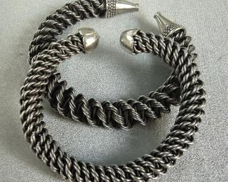 Braided &quot;Faux Silver&quot; Bracelets