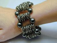 """Lizette"" Sterling Wire Bead Cuff"