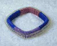 """Susie"" Bangles With Wire and Fiber"
