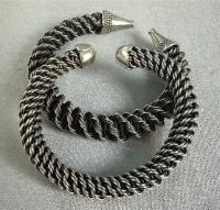 Round Braiding #2: Faux Silver Bracelets